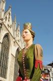 Desfile de caráteres gigantes Fotografia de Stock Royalty Free