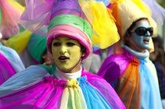 Desfile de carnaval de Limassol, 14 de febrero de 2010 Imagen de archivo libre de regalías