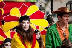Desfile de carnaval de Limassol, 6 de marzo de 2011 Foto de archivo libre de regalías