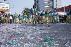 Desfile de carnaval de Limassol - de Chipre el 14 de febrero Imágenes de archivo libres de regalías