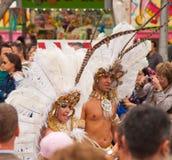 Desfile de carnaval de SANTA CRUZ, ESPAÑA 2013 foto de archivo libre de regalías