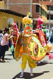 Desfile de carnaval en Banos, Ecuador Foto de archivo libre de regalías