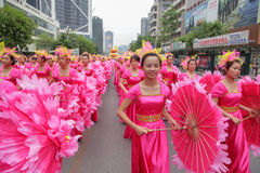 Desfile de carnaval 2013, Liuzhou, China fotografía de archivo libre de regalías