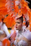 Desfile de carnaval principal del Las Palmas Imagenes de archivo