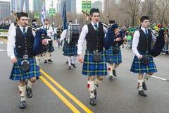 Desfile de Chicago St Patrick fotografía de archivo libre de regalías