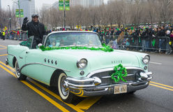 Desfile de Chicago St Patrick Imagen de archivo