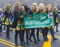 Desfile de Chicago St Patrick Fotos de archivo libres de regalías