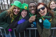 Desfile de Chicago St Patrick Imagen de archivo libre de regalías