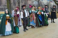 Desfile de Chicago St Patrick foto de archivo