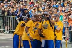 Desfile de 2015 de NBA guerreros del campeonato fotografía de archivo