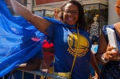 Desfile de 2015 de NBA guerreros del campeonato Imágenes de archivo libres de regalías