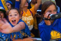 Desfile de 2015 de NBA guerreros del campeonato Foto de archivo libre de regalías
