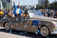Desfile de 2015 de NBA guerreros del campeonato Foto de archivo