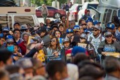 Desfile de 2015 de NBA guerreros del campeonato Imagenes de archivo