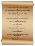 Desfile de diez mandamientos stock de ilustración