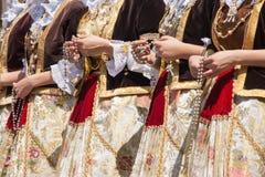 Desfile de Efisio del santo fotos de archivo