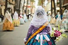 Desfile de Fallas en Valencia Fotografía de archivo