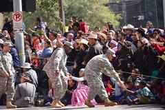 Desfile de Houston Livestock Show y del rodeo Imagen de archivo