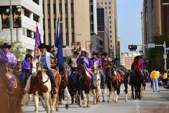 Desfile de Houston Livestock Show y del rodeo Imagen de archivo libre de regalías