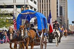 Desfile de Houston Livestock Show y del rodeo Fotos de archivo