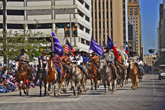 Desfile de Houston Livestock Show y del rodeo Fotos de archivo libres de regalías