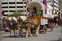 Desfile de Houston Livestock Show y del rodeo Imágenes de archivo libres de regalías