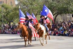 Desfile de Houston Livestock Show y del rodeo Foto de archivo