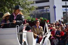 Desfile de Houston Livestock Show y del rodeo Foto de archivo libre de regalías
