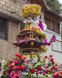 Desfile de icono de Virgen del Carmen Pisac Cuzco Perú Imagen de archivo libre de regalías