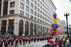 Desfile de la acción de gracias de Chicago Imagen de archivo libre de regalías