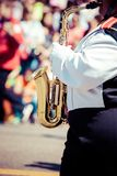 Desfile de la banda de metales fotos de archivo