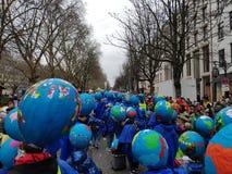 Desfile de la calle del carnaval fotos de archivo libres de regalías