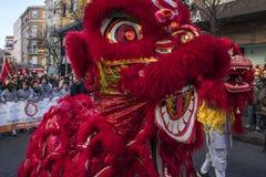Desfile de la celebración del Año Nuevo chino, año del perro Fotos de archivo