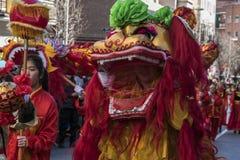 Desfile de la celebración del Año Nuevo chino, año del perro Imágenes de archivo libres de regalías