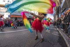 Desfile de la celebración del Año Nuevo chino, año del perro Imagen de archivo libre de regalías