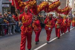 Desfile de la celebración del Año Nuevo chino, año del perro Imagen de archivo