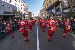 Desfile de la celebración del Año Nuevo chino, año del perro Imagenes de archivo