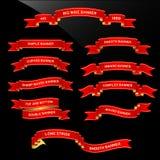 Desfile de la cinta de la bandera Foto de archivo libre de regalías