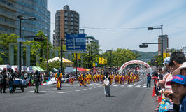 Desfile de la danza de Kinsai Yosakoi Foto de archivo