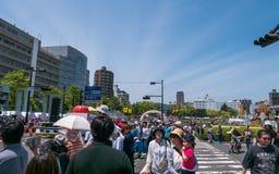 Desfile de la danza de Kinsai Yosakoi Foto de archivo libre de regalías