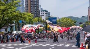 Desfile de la danza de Kinsai Yosakoi Imágenes de archivo libres de regalías