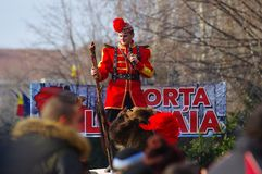 Desfile 15 de la danza del oso foto de archivo libre de regalías