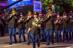 Desfile 2015 de la luz de las estrellas de Portland Imágenes de archivo libres de regalías