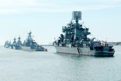 Desfile de la marina de guerra de Victory Day Foto de archivo libre de regalías
