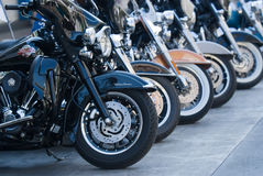 Desfile de la moto en Bangkok, Tailandia Imágenes de archivo libres de regalías