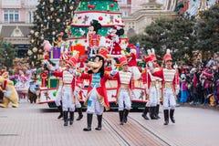 Desfile de la Navidad de Disney Fotos de archivo