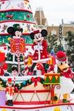 Desfile de la Navidad de Disney Imagen de archivo libre de regalías