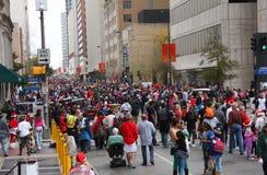 Desfile de la Navidad del reloj Fotos de archivo libres de regalías