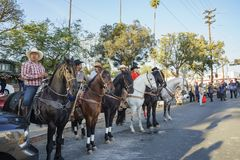 Desfile de la Navidad de Highland Park imagenes de archivo