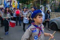 Desfile de la Navidad, parte del día de fiesta de días de fiesta en Haifa Imagen de archivo